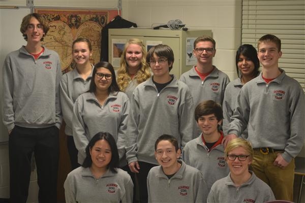 Grant Community High School's Academic Team Group Photo