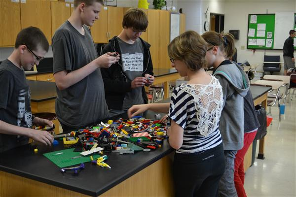 Grant Community High School's Science Club builds with Legos