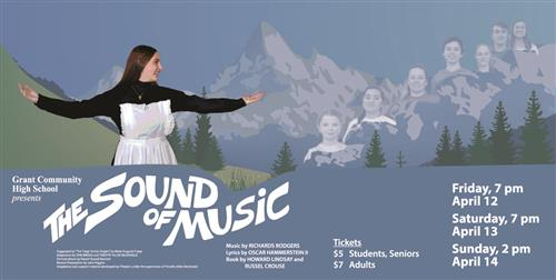 The Sound of Music photo of main cast with mountain background